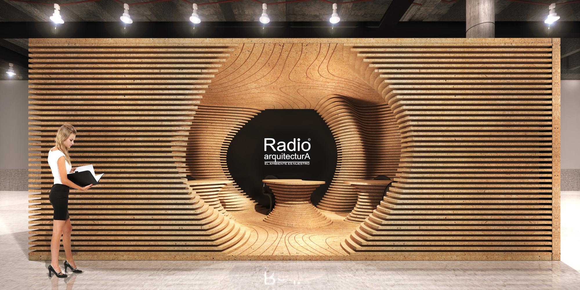 Ganador del concurso Ondas Modeladoras por Radio Arquitectura / Juan José Barrios, Vista Frontal