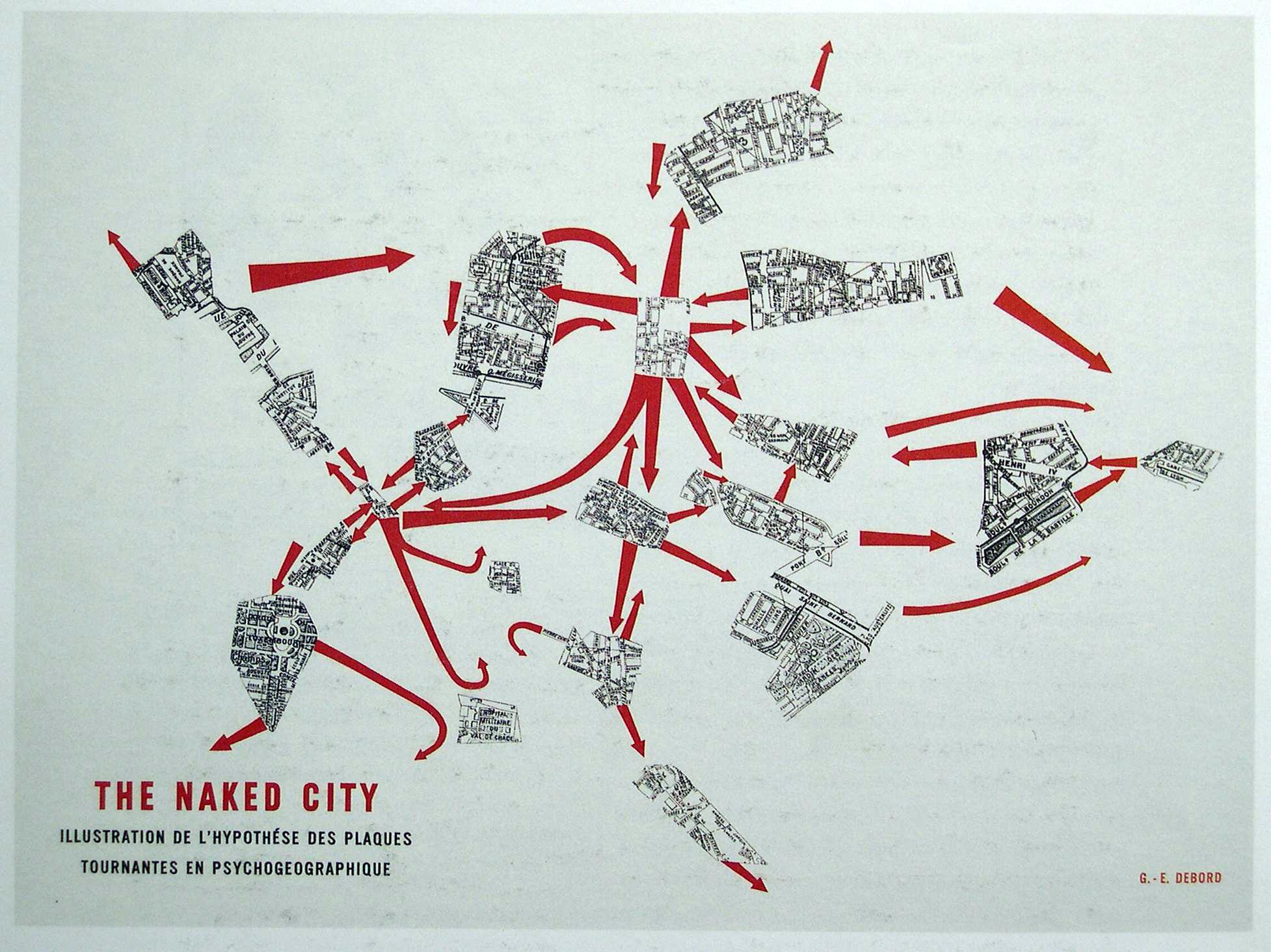 ¿Estudios Urbanos y Ciencias Sociales?: Conoce la revista URBS, The Naked City Cartografía psicogeográfica de París  Guy Debord
