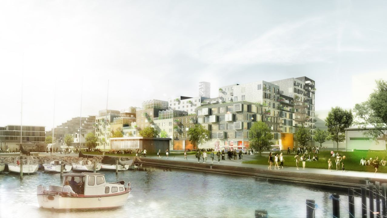 'Canal Houses': Aarhus Harbour Housing Project Winning Proposal / ADEPT + Luplau Poulsen, Courtesy of ADEPT + Luplau Poulsen