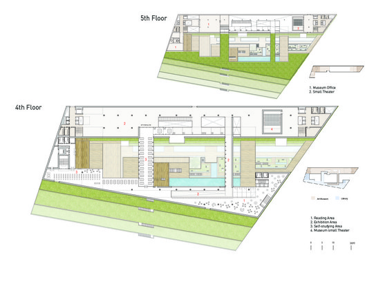 4th and 5th floor plans