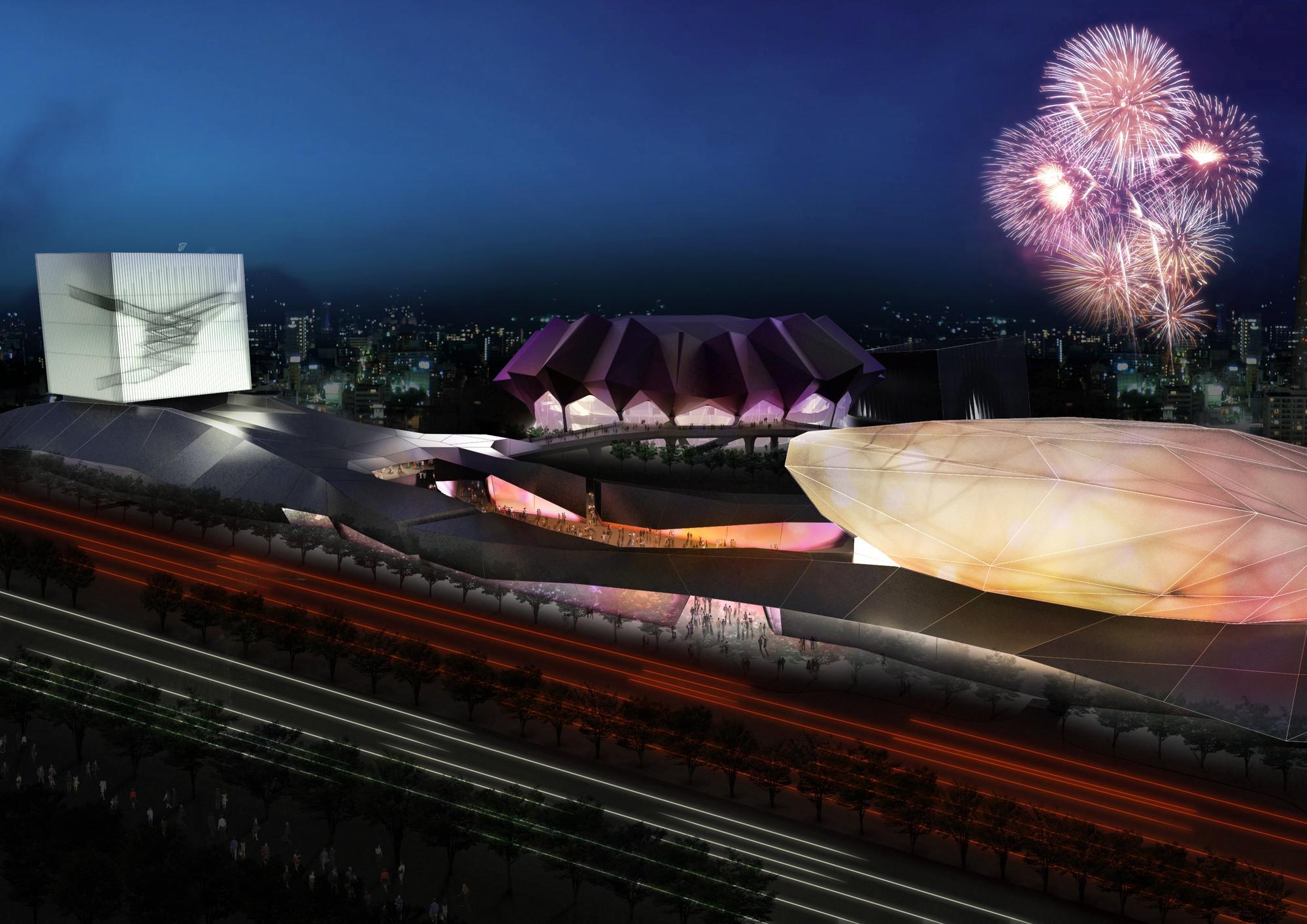 Reiser + Umemoto's Taipei Pop Music Center Breaks Ground in Taiwan, Courtesy of Reiser + Umemoto, RUR Architecture PC