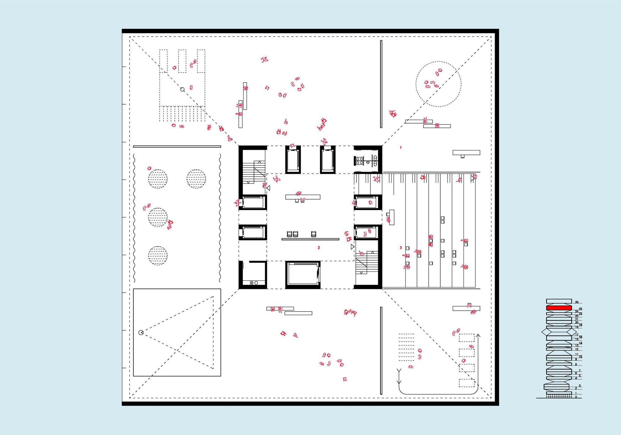 Exhibition Floor Plan D : Gallery of taichung city cultural center competition entry