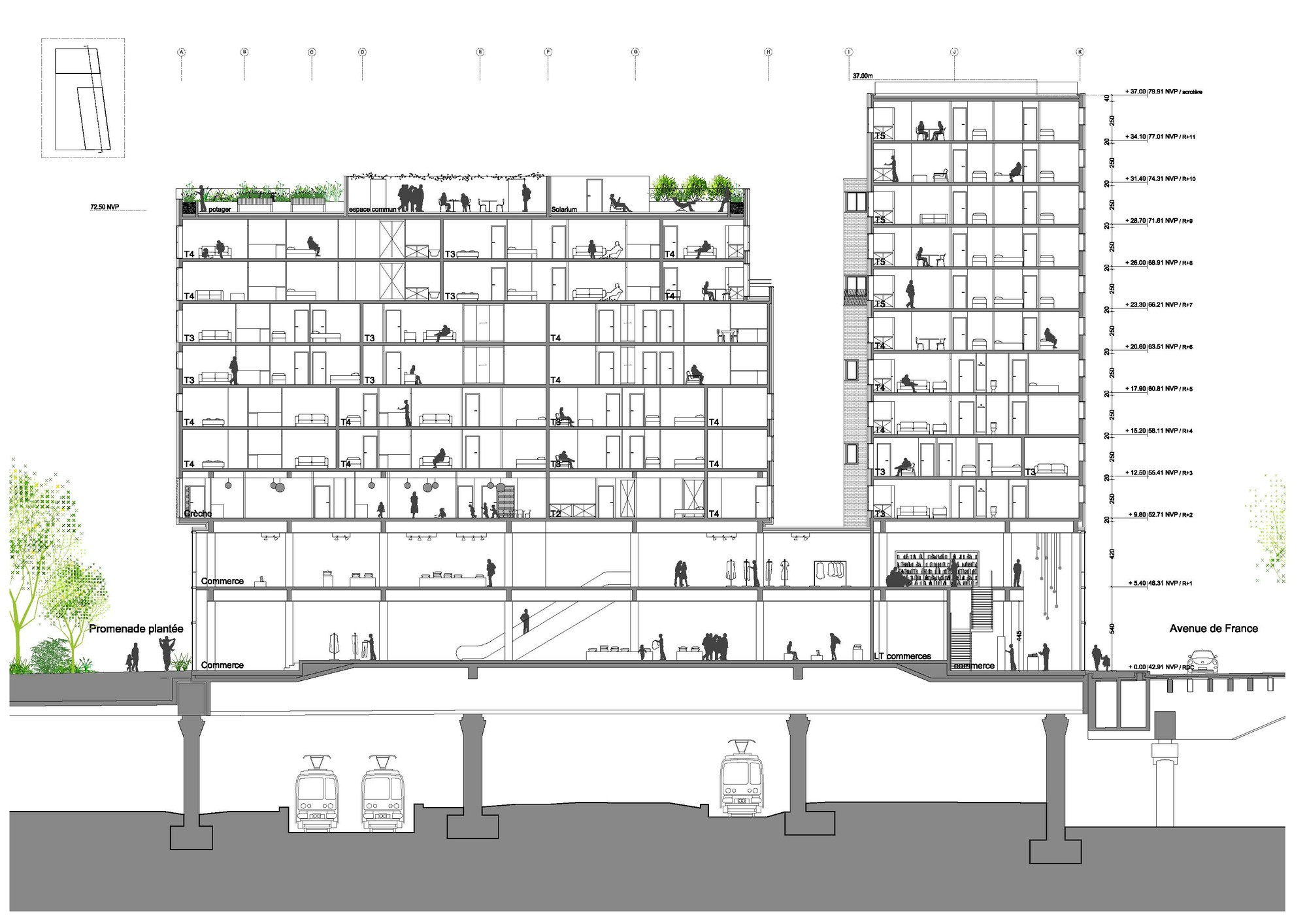 Gallery Of Mixed Use Building In Paris Winning Proposal