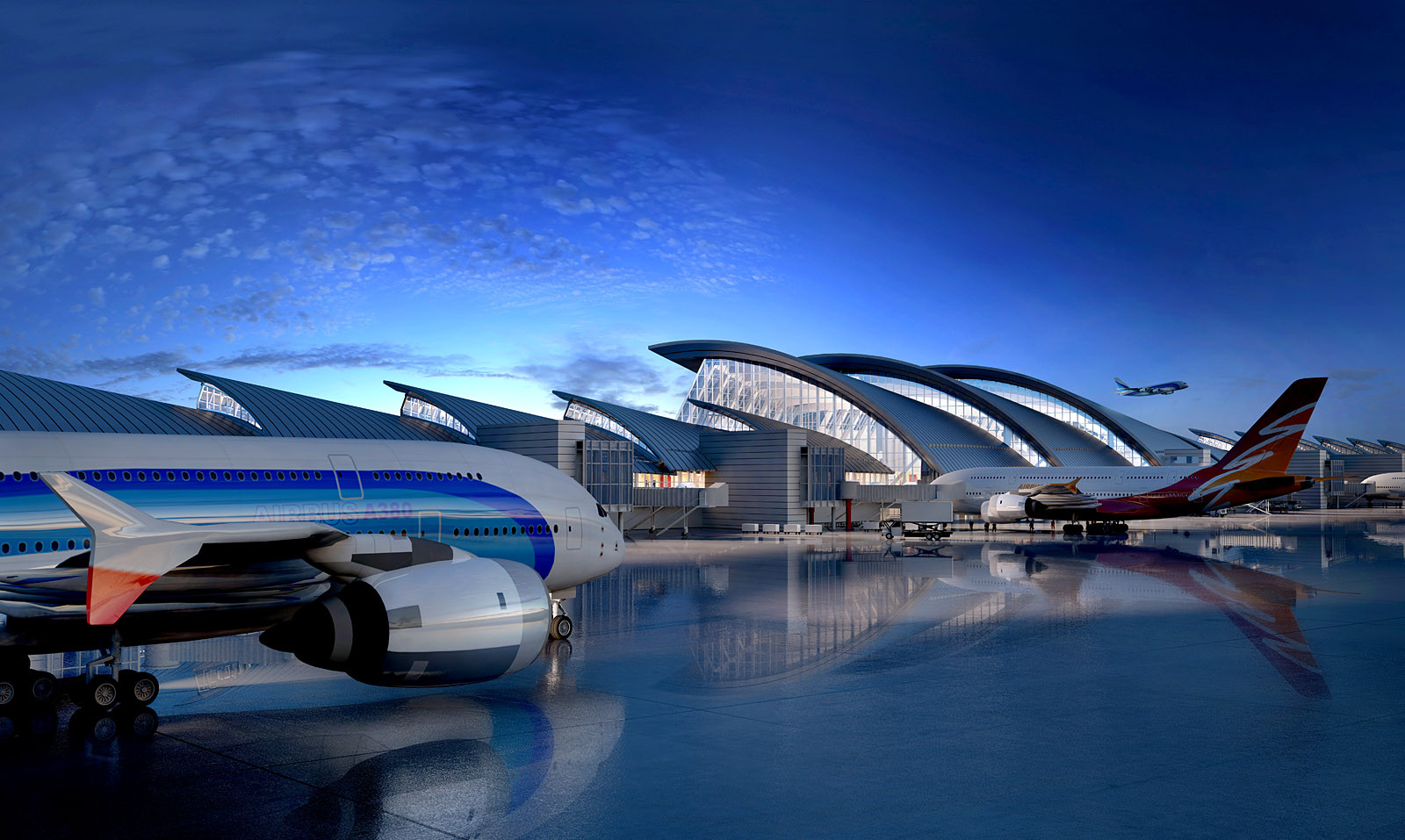 LAX Completes First Phase of its $1.5 Billion Terminal, © Fentress Architects
