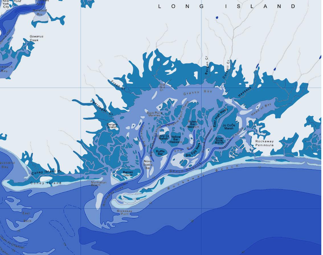 Jamaica Bay Historic Map