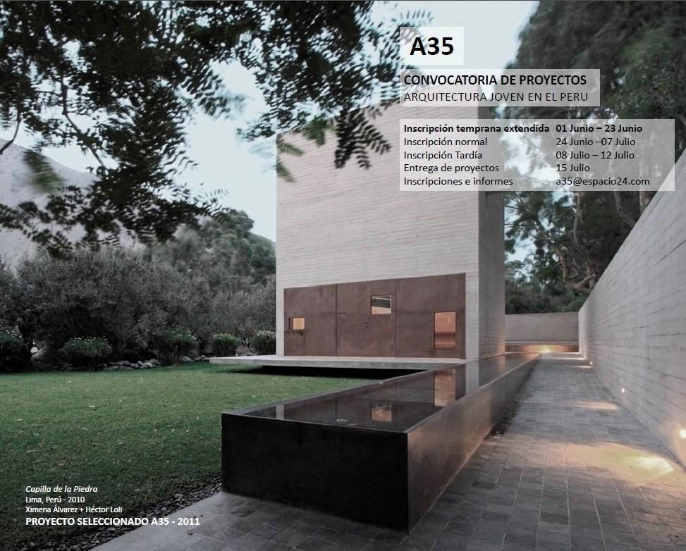 Convocatoria: Primera Bienal de Arquitectura Joven BAJ 2013 / Perú, Courtesy of Espacio24