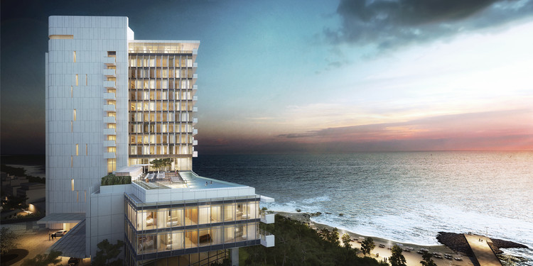 Resort Hotel and Spa Proposal / Richard Meier & Partners, Courtesy of Richard Meier & Partners