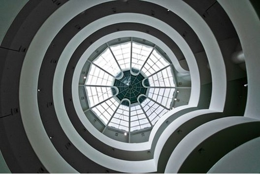 Interior architecture of the Guggenheim Museum, by Frank Lloyd Wright. Image © Scott Norsworthy