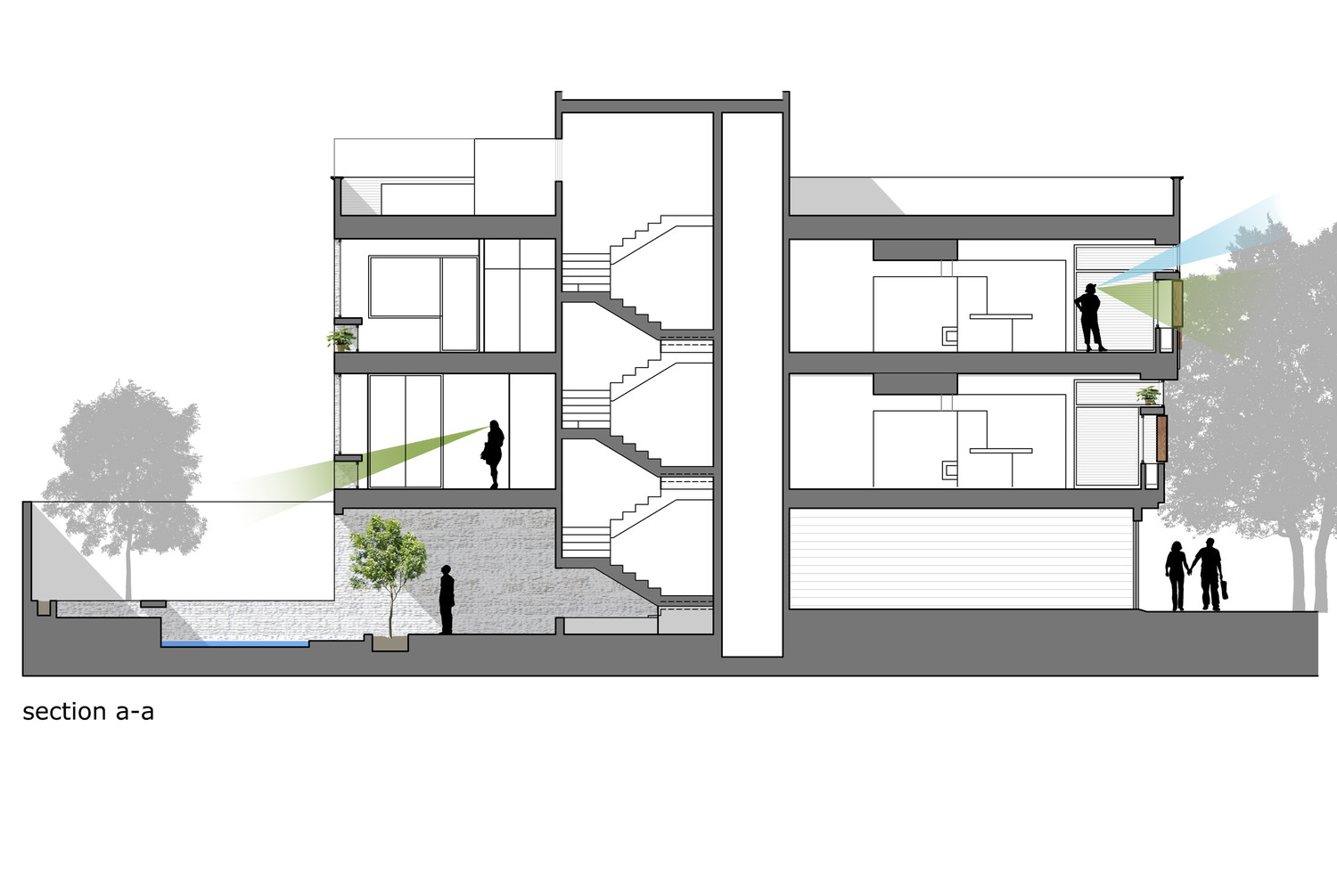 Gallery of house in isfahan logical process in for Section window design
