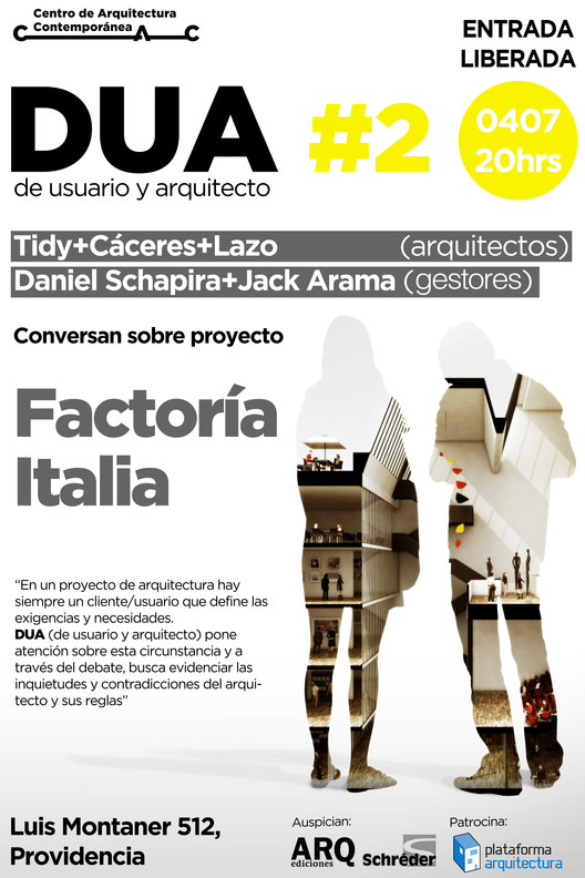 "Conversaciones DUA ""De usuario a arquitecto"" / CAC, Santiago , Courtesy of CAC"