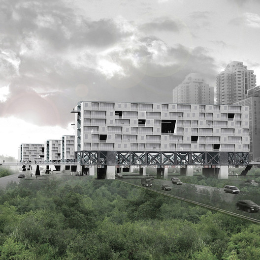 Bridge Urban Life Typology Proposal for China, by Chen and Lu, via www.theberlage.nl