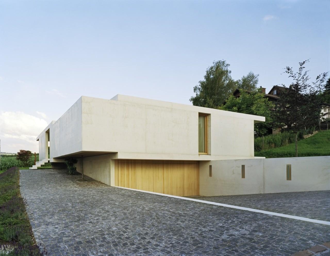 gallery of house at zimmerberg bottom rossetti wyss architekten 17. Black Bedroom Furniture Sets. Home Design Ideas