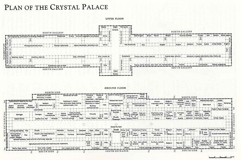 D Exhibition Floor Plan : Gallery of ad classics the crystal palace joseph paxton