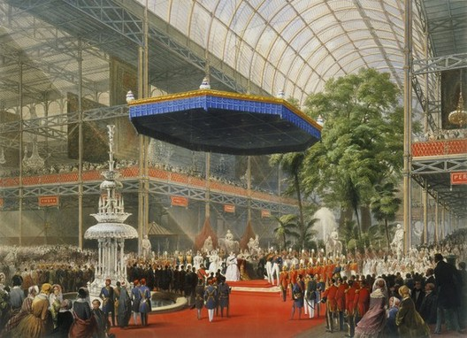 The State Opening of The Great Exhibition in 1851, colour lithograph by Louis Haghe.© <a href='https://creativecommons.org/licenses/by-sa/3.0/'>Wikimedia</a> Commons