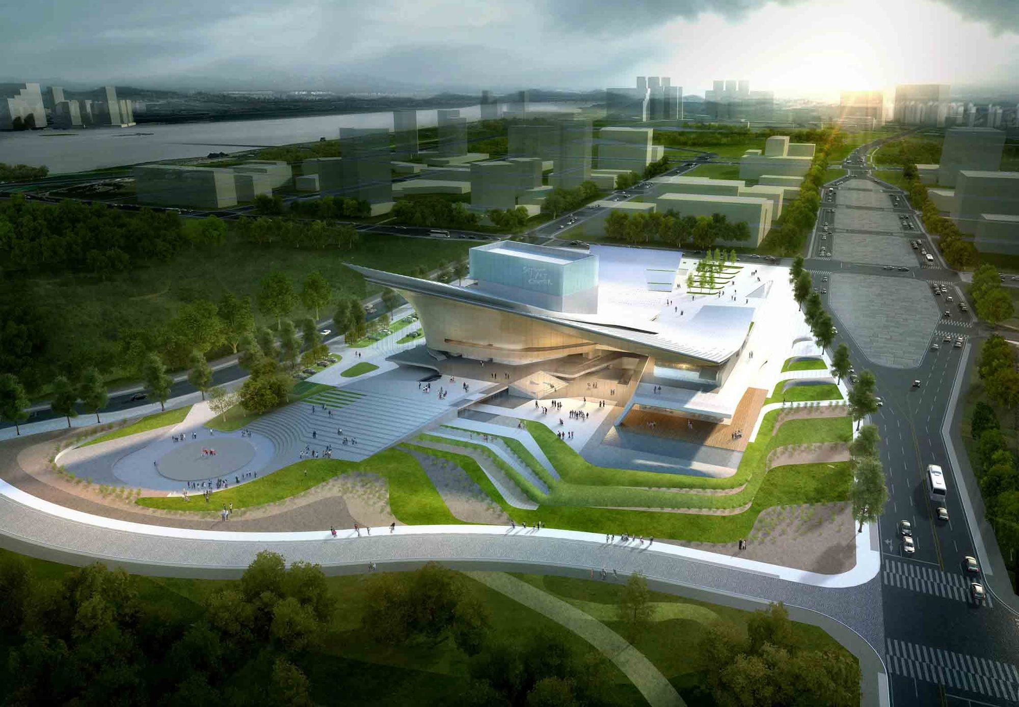 Sejong Art Center Winning Proposal / DMP Partners / Courtesy of DMP Partners