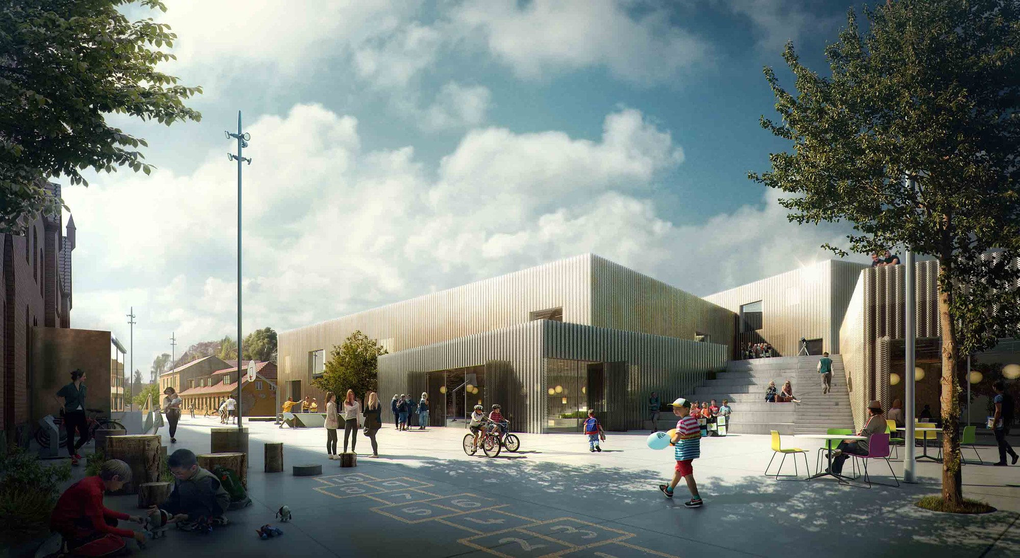 The New Urban School, Mixed Use Sports Complex Proposal / EFFEKT + Rubow / Courtesy of EFFEKT + Rubow