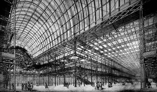 Interior view of the Crystal Palace, 1851. © paristeampunk.canalblog.com