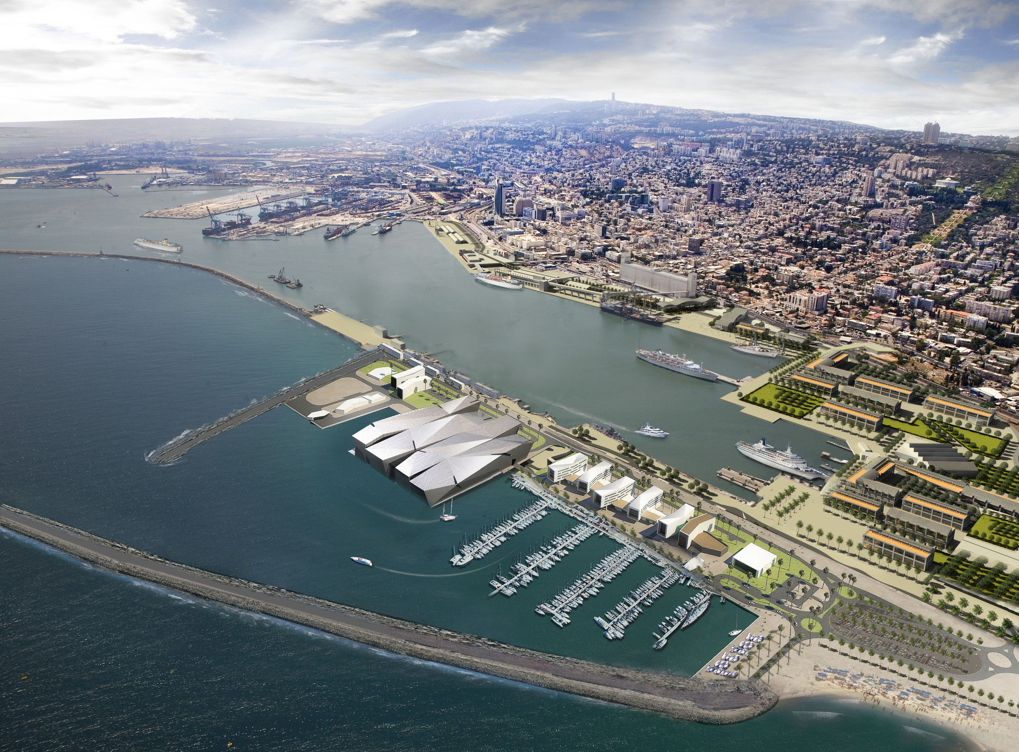 Awesome New Haifa Waterfront Plan Amir Mannami Shinar Architects And Largest Home Design Picture Inspirations Pitcheantrous