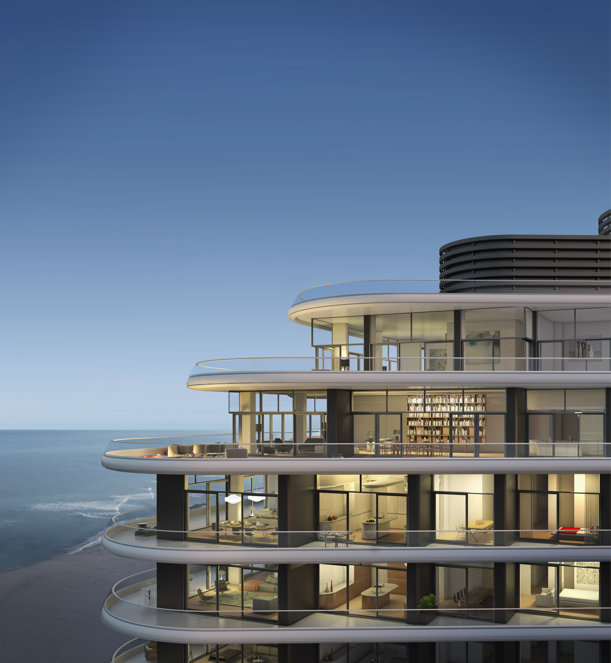Foster partners release images of luxury condo in miami for Top 100 design hotels