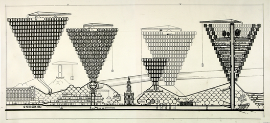 por Peter Cook vía Archigram Archives