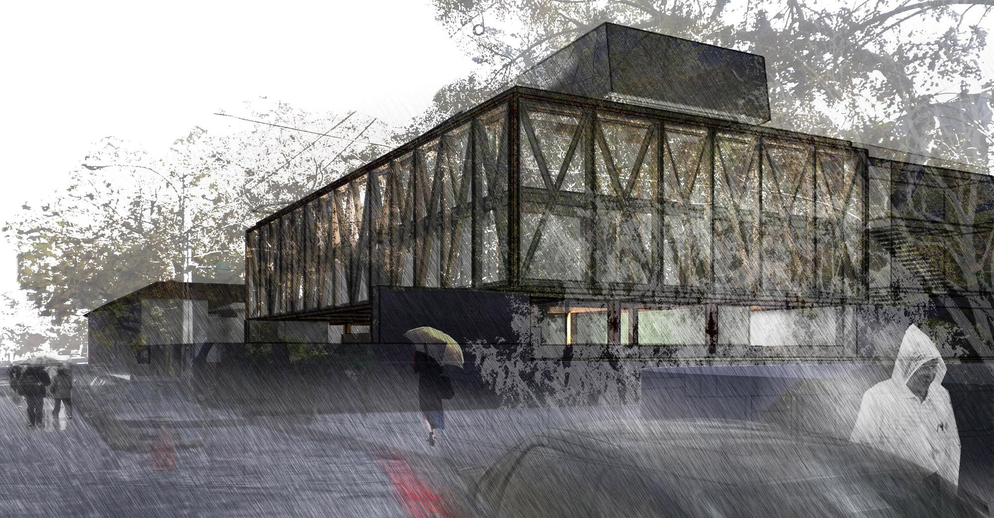 Primer lugar concurso edificio docente y de investigaci n for Escuela arquitectura