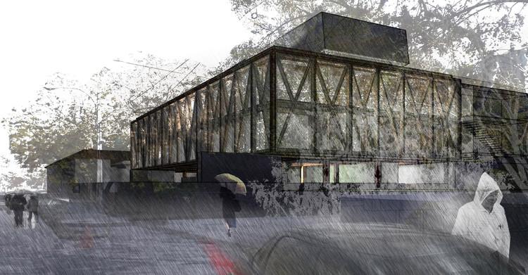 Primer Lugar  Concurso Edificio Docente y de Investigación Escuela de Arquitectura UC, Cortesía de Gonzalo Claro + Equipo