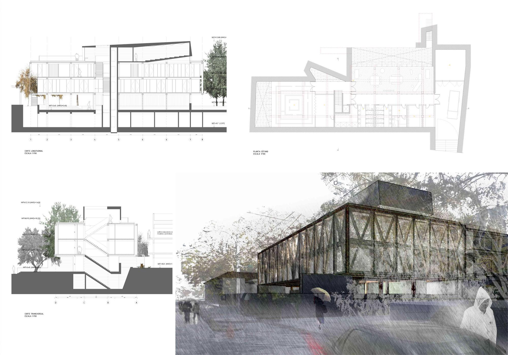 Galer a de primer lugar concurso edificio docente y de - Escuela de arquitectura de valladolid ...