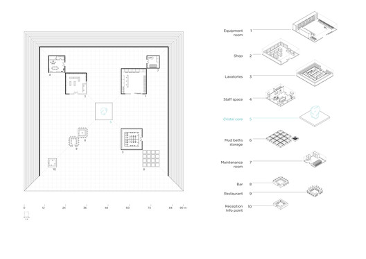 floor plan detailed with the inside programs diagram