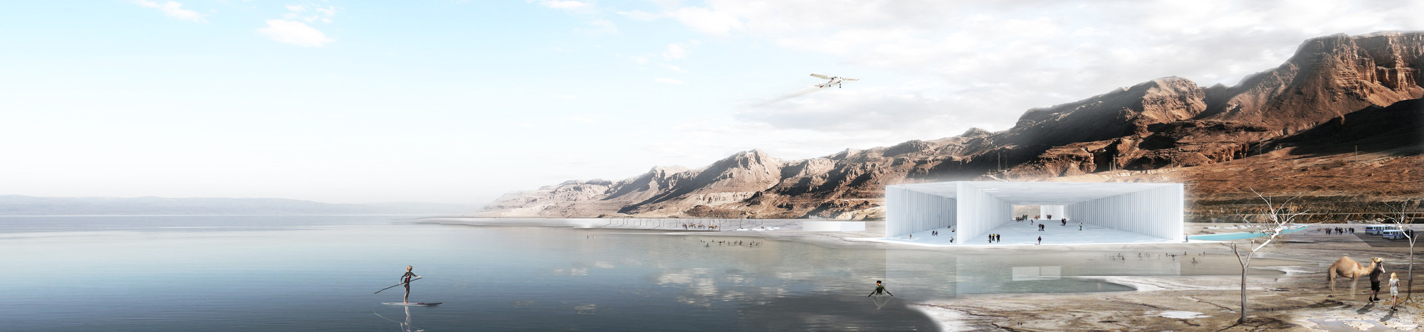 'Cristal – The Dead Sea Gem' Winning Proposal / Sitbon Architectes, Courtesy of Sitbon Architectes