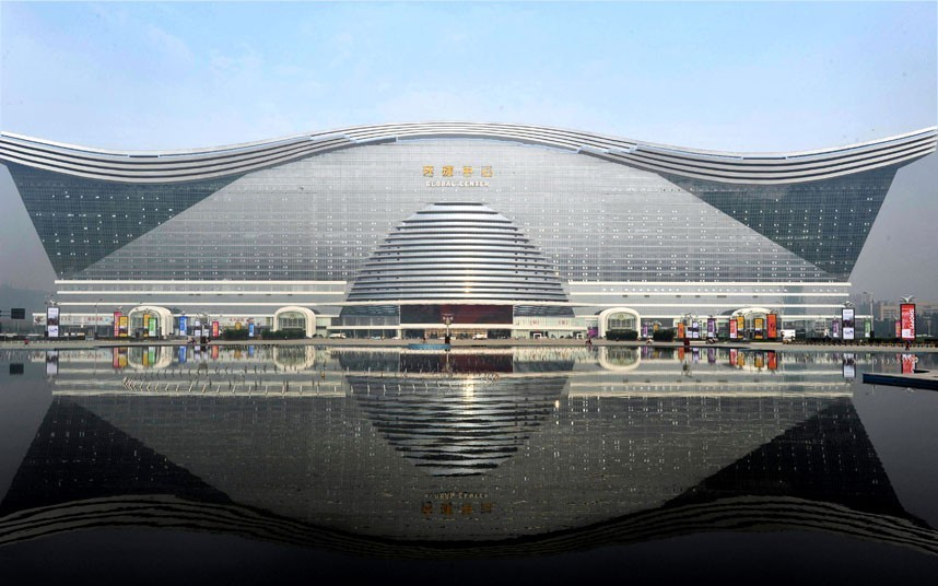 The World's Largest Building Opens in China, Courtesy of The Telegraph