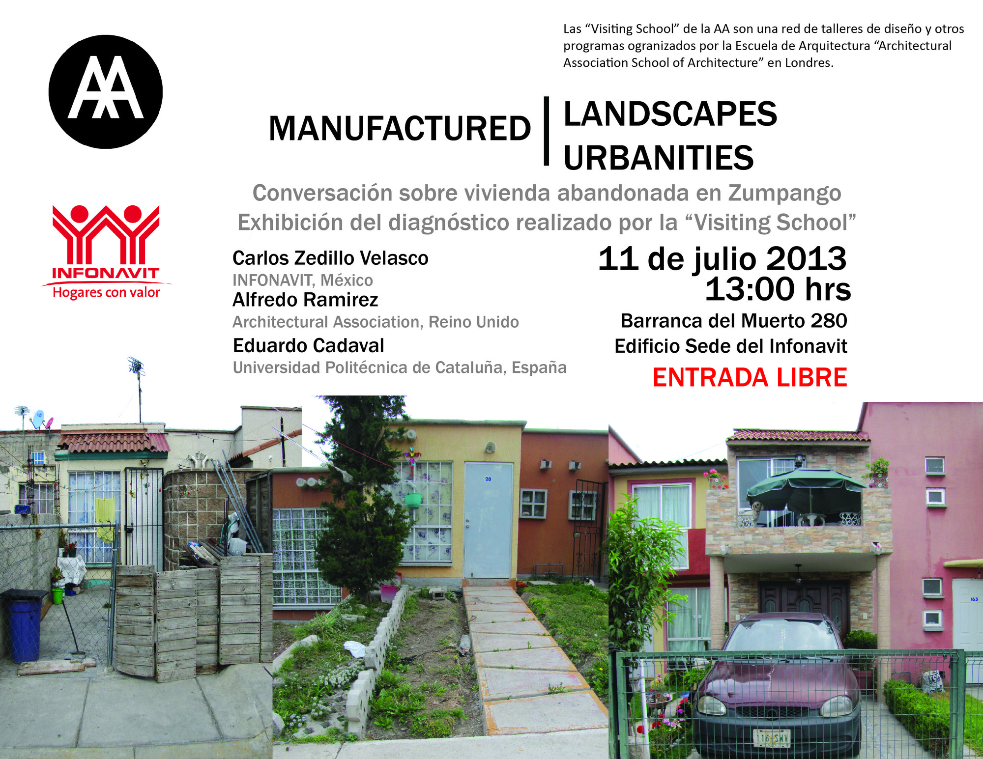 "Inauguración de la exposición ""Manufactured Landscapes / Manufactured Urbanities"", Courtesy of INFONAVIT"