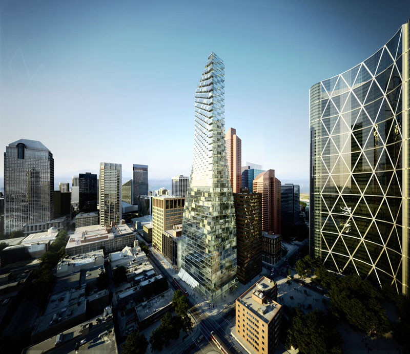 BIG Unveils 'Telus Sky' Tower in Calgary, Courtesy of BIG