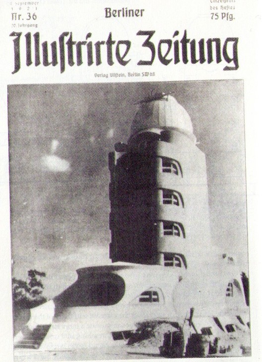 Erich Mendelsohn, Einstein Tower on Front Cover of Berliner Illustrierte Zeitung (1921)