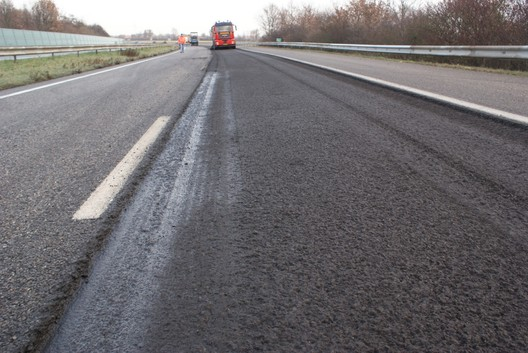 Test Strip on A58 near Vlissingen in The Netherlands