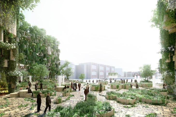 Proyecto de MVRDV busca convertir antiguos edificios industriales en un Oasis Urbano, © MVRDV
