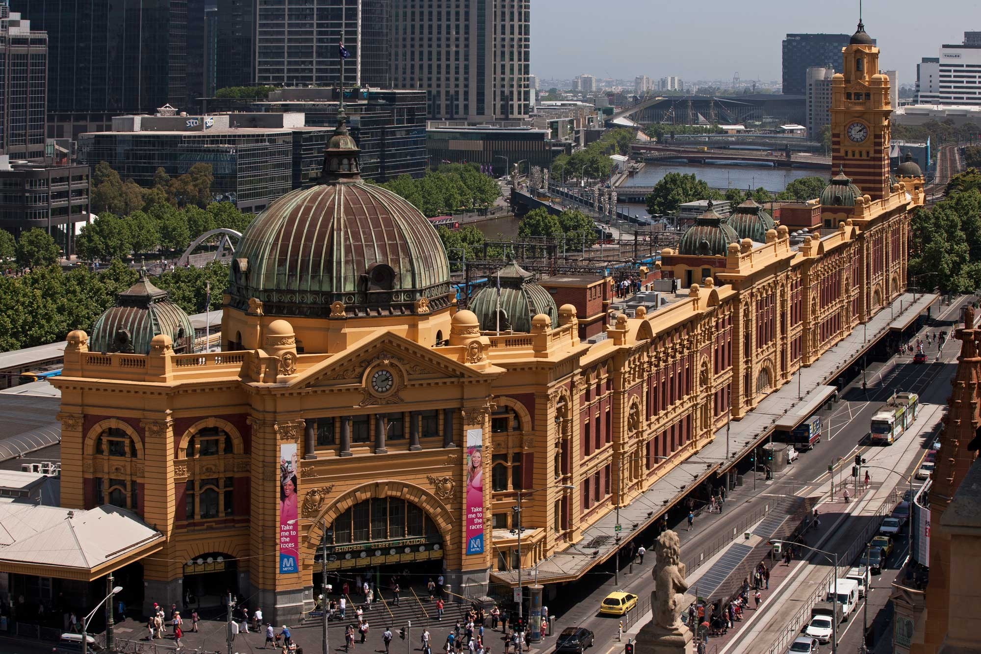 Flinders Street Station and Flinders Street; Courtesy of the Victorian Coalition Government