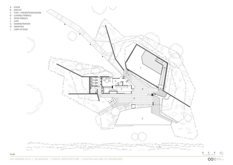 Australian age of dinosaurs museum cox rayner architects for Cox plans