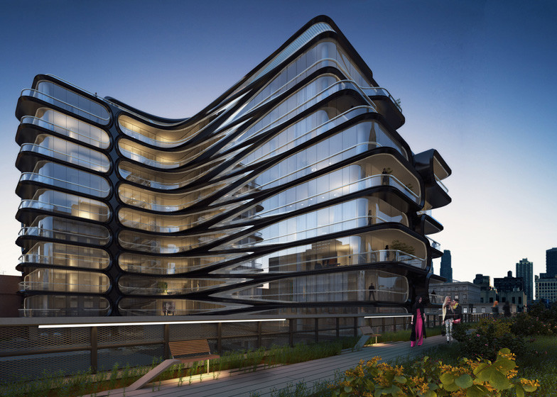 Zaha Hadid Unveils New York Apartment Block Alongside High Line, Courtesy of Related Companies