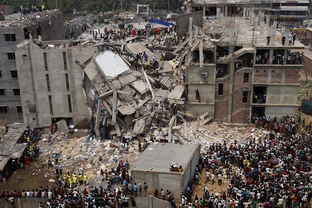 Image of Savar Building Collapse via Flickr © rijans