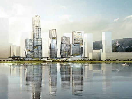 UNStudio Wins Yongjia World Trade Center Competition in Wenzhou, © moka-studio