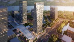 Xuhui Binjian Media City 188S-G-1 Tower and Podium Winning Proposal / Aedas