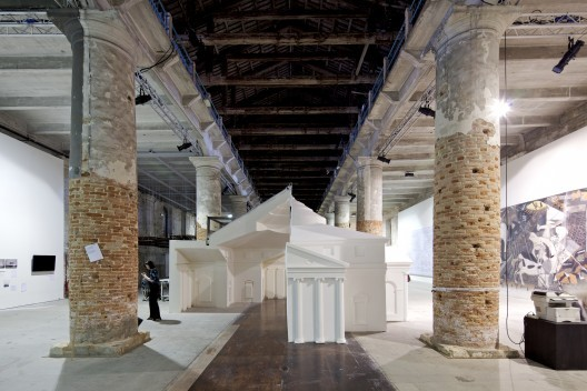 Two Teams Shortlisted for 2014 British Pavilion in Venice, Museum of Copying, FAT's exhibition at the Venice Biennale 2012. FAT is part of one of the teams competing to design the British Pavilion for the Venice Biennale 2014. Image © Nico Saieh