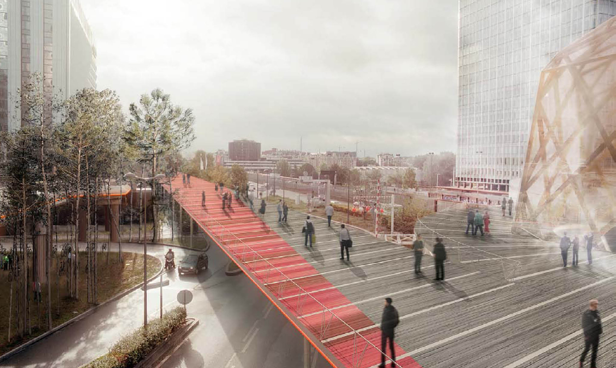 La Defense Masterplan. Image Courtesy of AWP