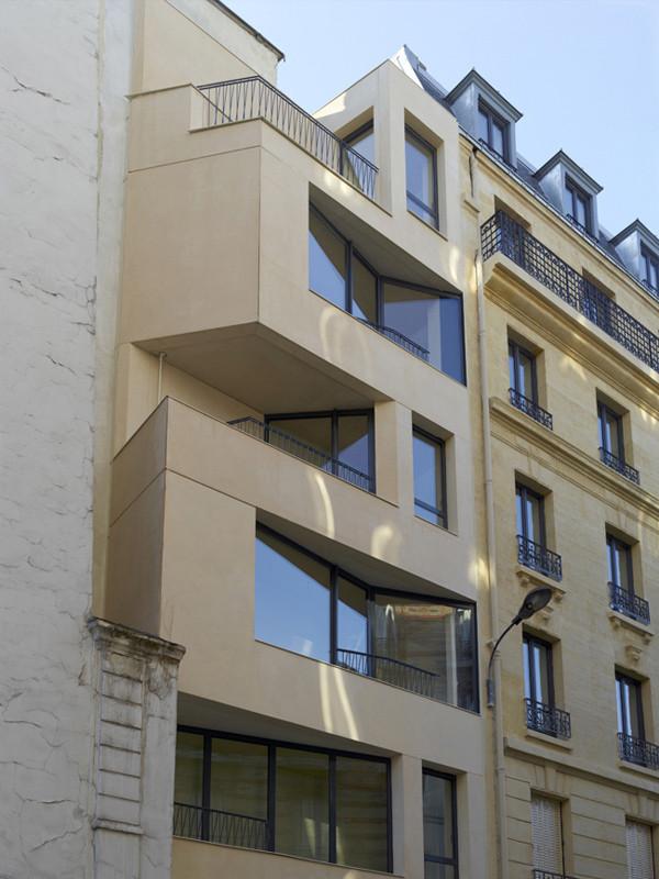 gallery of 20 social housing in paris h2o architectes 10. Black Bedroom Furniture Sets. Home Design Ideas