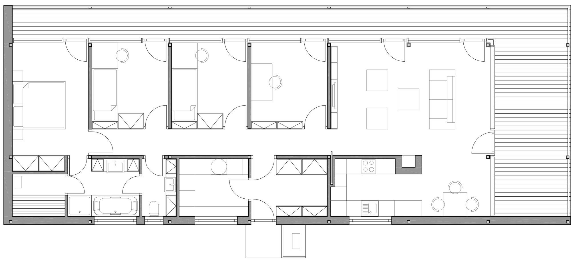 Gallery of Family House Mseno   Stempel  amp  Tesar Architekti   Family House Mseno Floor Plan