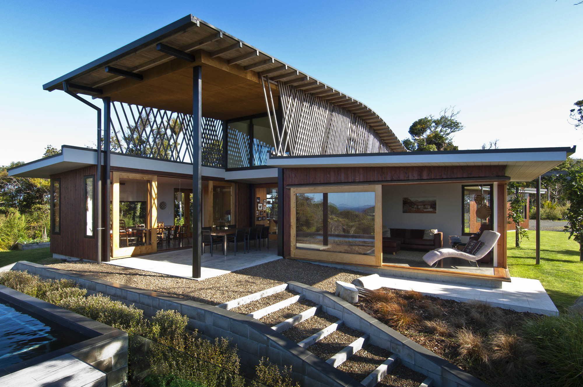 Gallery of ngunguru house tennent brown architects 1 for Hilltop home designs
