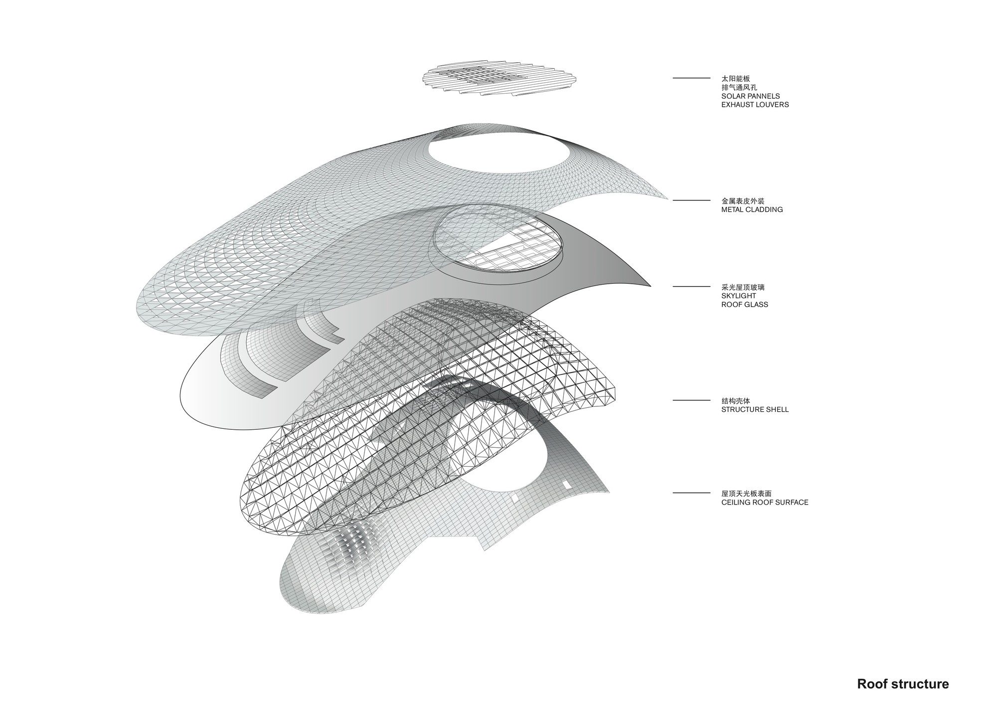 Roof Structure Axon