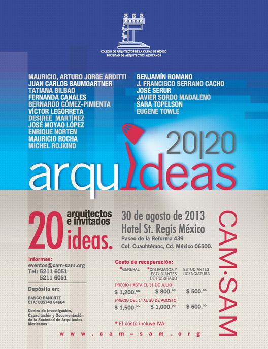 Arquideas 20 20 / Colegio de Arquitectos de la Ciudad de México