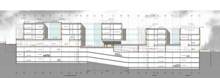 Section © Jim Clemes Atelier d´Architecture et de Design