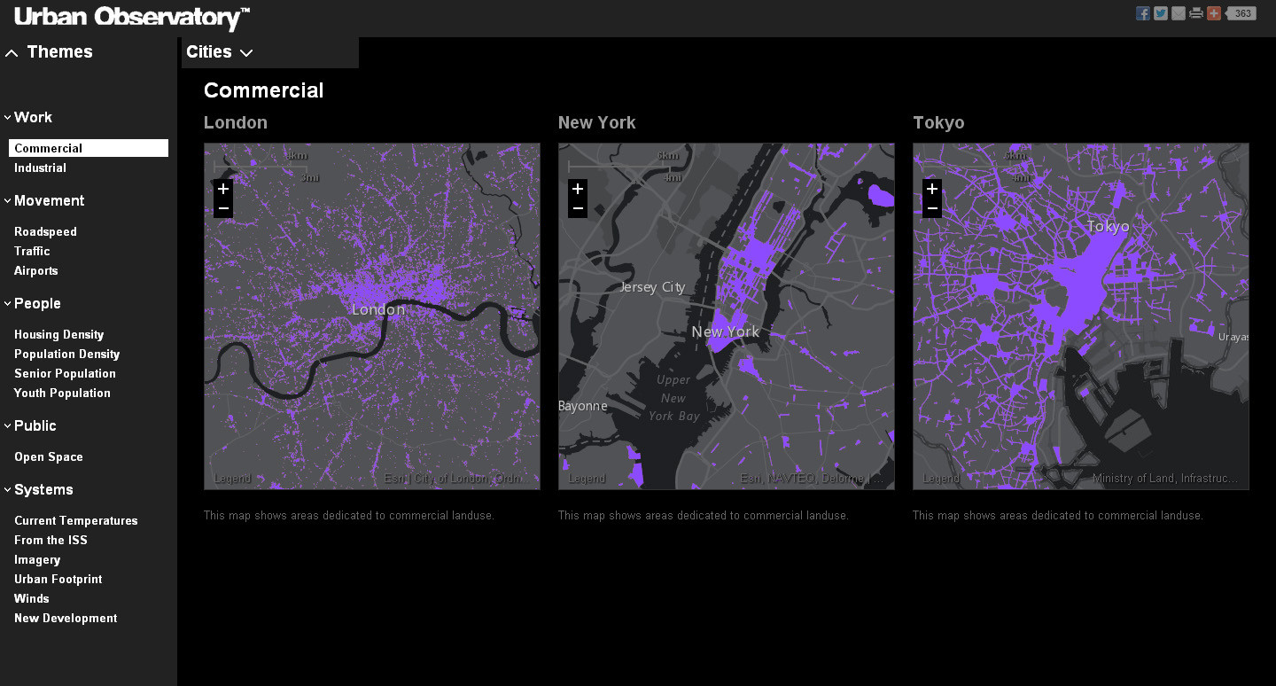 Commercial Land Use © The Urban Observatory